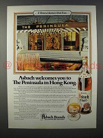 1980 Asbach Brandy Ad - The Peninsula in Hong Kong