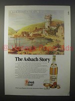 1986 Asbach Brandy Ad - Old Ruedesheim-on-the-Rhine