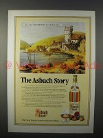 1987 Asbach Brandy Ad - Old Ruedesheim-on-the-Rhine