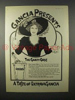 1973 Gancia Champagne Ad - Miss Connie Ediss