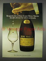 1977 Remy Martin Cognac Ad - Requests for a Drop