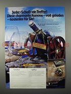 1977 Courvoisier Cognac Ad - in German
