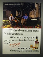 1979 Martell Cognac Ad - For Eight Generations