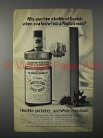 1968 Burnett's White Satin Gin Ad - Why Give Scotch?