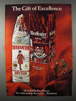 1970 Beefeater Gin Ad - The Gift of Excellence