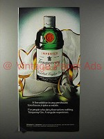 1975 Tanqueray Gin Ad - Fine Addition to Penthouse