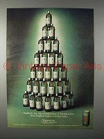 1977 Tanqueray Gin Ad - Christmas Tree from England