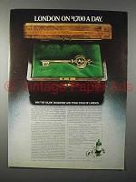 1978 Tanqueray Gin Ad - London on $1700 a Day