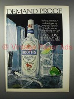 1979 Booth's Gin Ad - Demand Proof