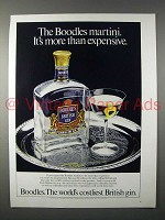 1980 Boodles Gin Ad - It's More Than Expensive