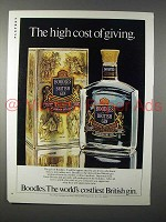 1980 Boodles Gin Ad - The High Cost of Giving