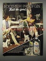 1980 Booth's Gin Ad - That's the Spirit!
