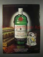 1980 Tanqueray Gin Ad - Man's Home is His Castle