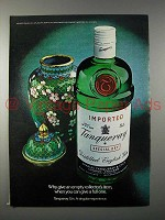 1980 Tanqueray Gin Ad - Why Give Empty Collector's Item