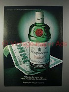 1981 Tanqueray Gin Ad - Why Give the Common?
