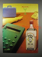 1982 Bombay Dry Gin Ad - Play to Win