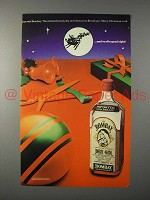 1982 Bombay Gin Ad - And to All a Good Night