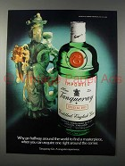 1982 Tanqueray Gin Ad - Why Go Around World to Find
