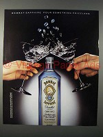 1991 Bombay Sapphire Gin Ad - Pour Something Priceless