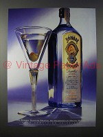 1994 Bombay Sapphire Gin Ad - Milton Glaser