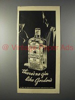 1952 Gordon's Distilled London Dry Gin Ad