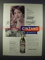 1958 Cinzano Bianco Ad - Entertain With New Zest