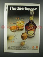 1972 Benedictine B&B Liqueur Ad - The Drier Liqueur