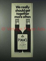 1977 Pimm's No 1 Cup Ad - Should Get Together More