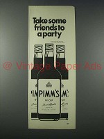 1977 Pimm's No 1 Cup Ad - Take Some Friends