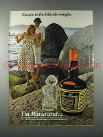 1978 Tia Maria Coffee Liqueur Advertisement- Escape to Islands