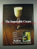 1980 Baileys Irish Cream Liqueur Ad - Impossible Cream