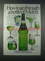 1980 Midori Liqueur Ad - Go Through a Bottle