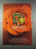 1981 Amaretto Di Saronno Liqueur Ad - Says I Love You