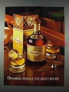1981 Drambuie Liqueur Ad - Over Ice the Night Before