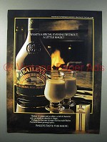 1982 Baileys Irish Cream Liqueur Ad - Little Magic