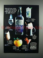 1983 Sambuca Romana Liqueur Ad - Out of Coffee Beans?