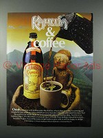 1985 Kahlua Coffee Liqueur Ad - Kahlua & Coffee