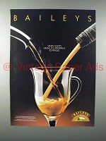 1989 Baileys Irish Cream Liqueur Ad - Mingle