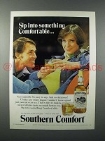 1975 Southern Comfort Liquor Ad - Sip Into Something Comfortable
