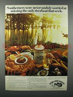 1978 Southern Comfort Liquor Ad - Missing Riverboat