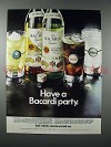 1970 Bacardi Rum Ad - Have a Party