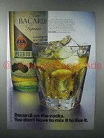 1971 Bacardi Rum Ad - You Don't Have To Mix It