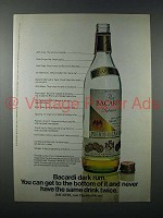 1973 Bacardi Rum Ad - Never Have the Same Drink Twice