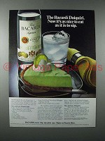 1977 Bacardi Rum Ad - Daiquiri As Nice To Eat as Sip
