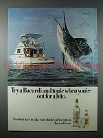 1977 Bacardi Rum Ad - When You're Out for a Bite