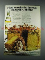 1981 Bacardi Rum Ad - Make the Famous Rum Cake