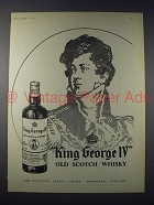 1958 King George IV Old Scotch Whisky Ad