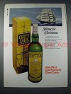 1970 Cutty Sark Scotch Ad - Home for Christmas
