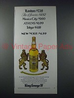 1977 King George IV Scotch Ad - London $7.28