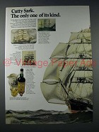 1971 Cutty Sark Scotch Ad - Only One of its Kind
